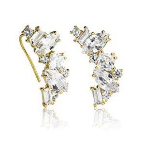 Kate Spade crystal crawler earrings
